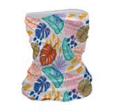 A washable, reusable, and comfortable colorful painted flowers pattern printed sports bandana mask neck gaiter